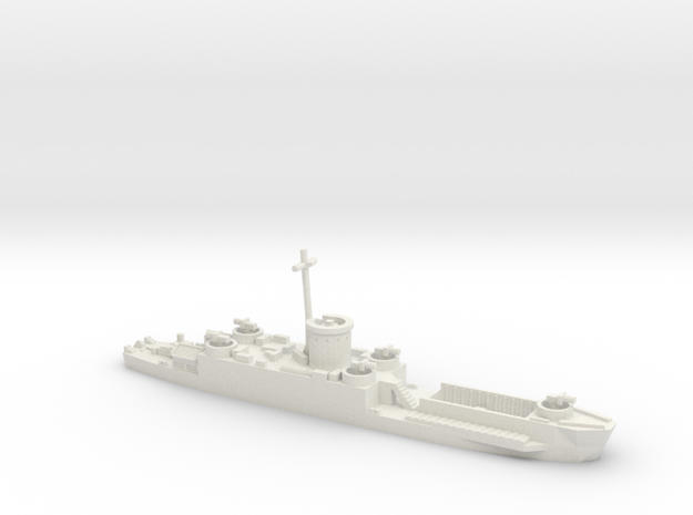 LCI(L) Late Forward Gun Tub 1/600 scale 3d printed