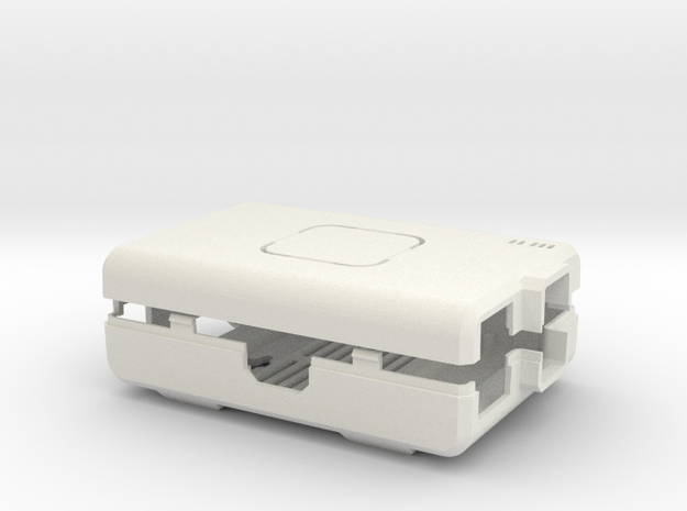 Raspberry Pi CASE 1.0 NO LOGO in White Strong & Flexible