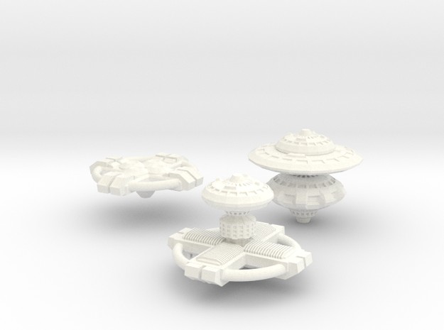 3 Space Stations 3d printed