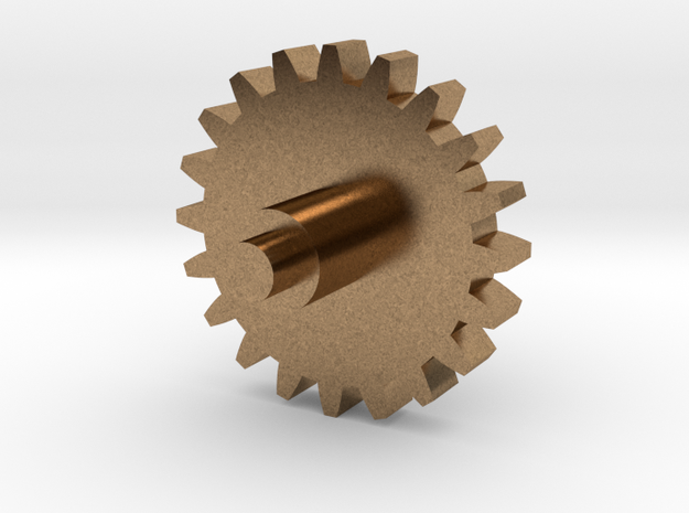 Replacement cog for music box in Natural Brass