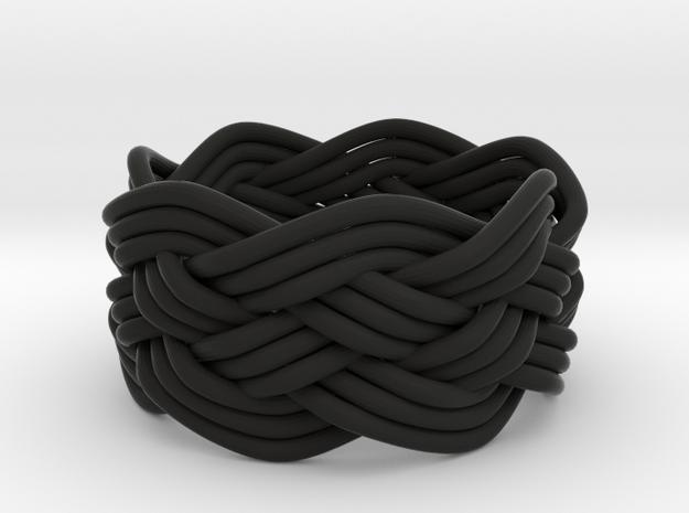 Turk's Head Knot Ring 5 Part X 7 Bight - Size 5.75 3d printed