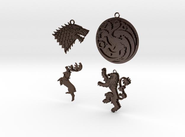 GoT Pendant Set 3d printed