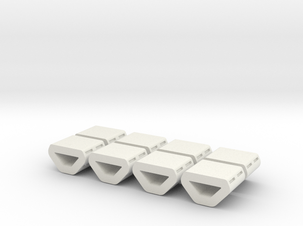 Peggie Engine Insert  Package - Low Detail in White Strong & Flexible