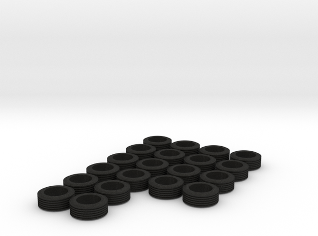 1/64 Trailer Tires (x20) 3d printed