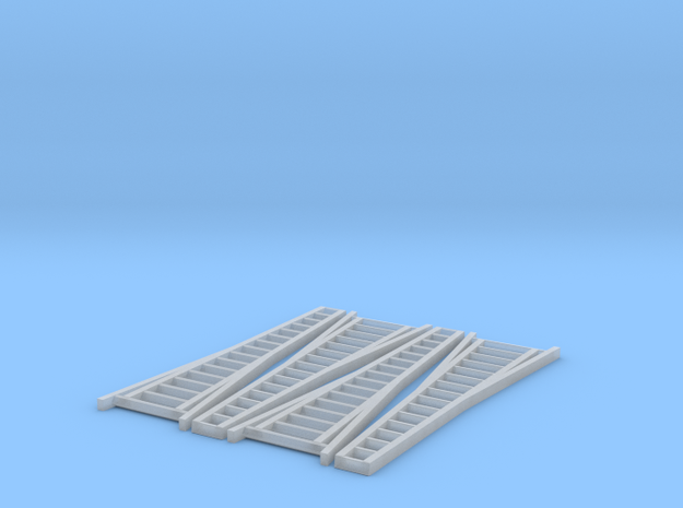 N Scale, Four 15' Orchard Ladders 3d printed Prototype Photo