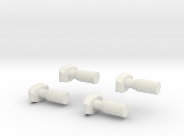 Buffers Nm 1:160 in White Natural Versatile Plastic