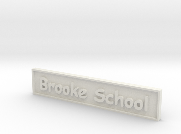 1:24 School Sign in White Strong & Flexible