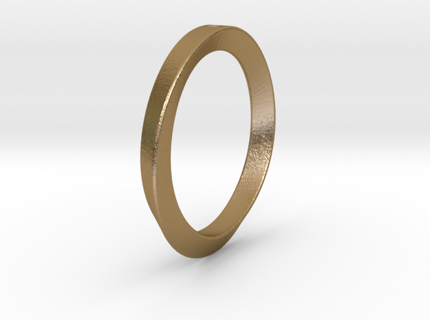Moebius Triangle Ring 3d printed