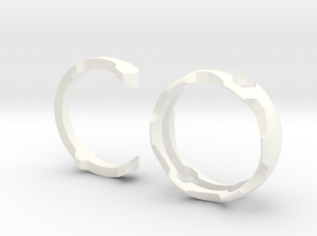 TWISTER puzzle ring 3d printed