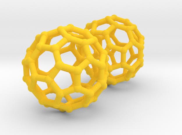 Buckyball Chemistry Molecule Earrings 3d printed