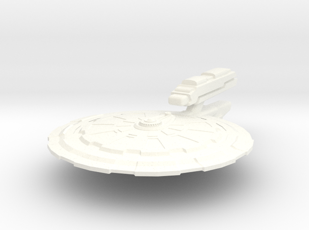 USS McKnight in White Strong & Flexible Polished