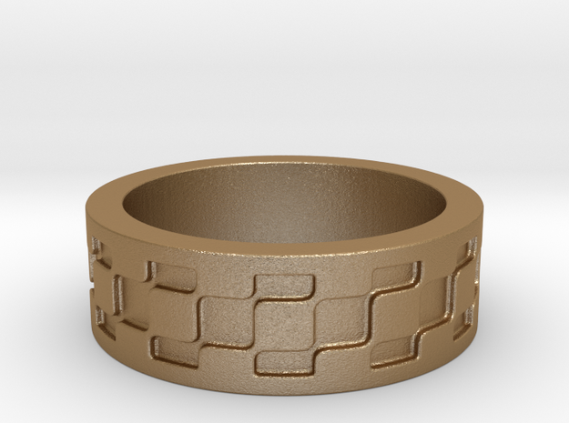 Block Ring Size 7.5 3d printed