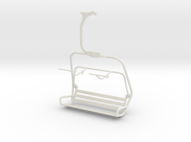 Ski Lift Chair in White Natural Versatile Plastic