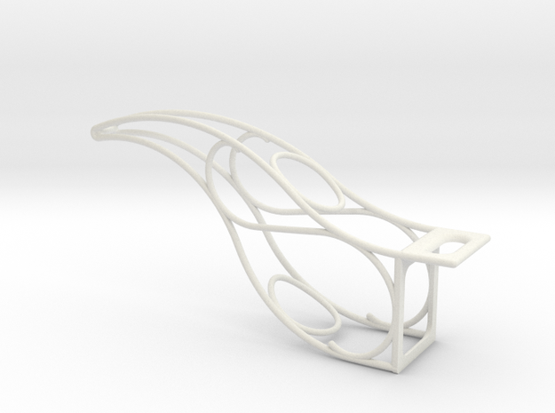 Ski Lift Bracket in White Natural Versatile Plastic