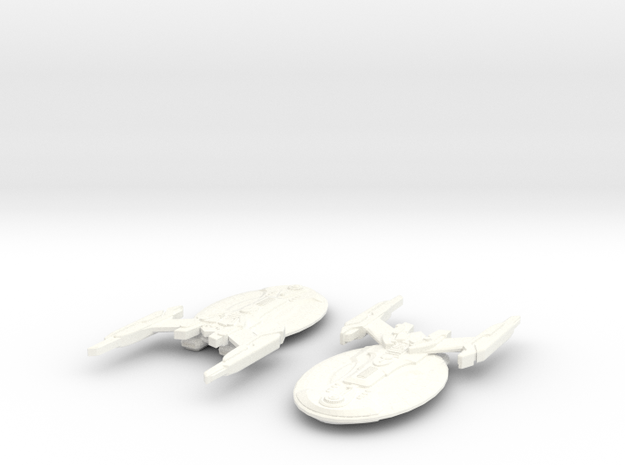 USS Osiris in White Processed Versatile Plastic