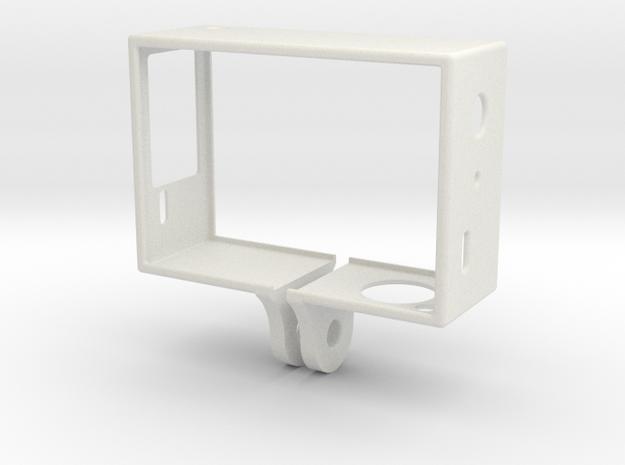 GoPro Hero 3 Frame - Linse Oben Rechts in White Strong & Flexible
