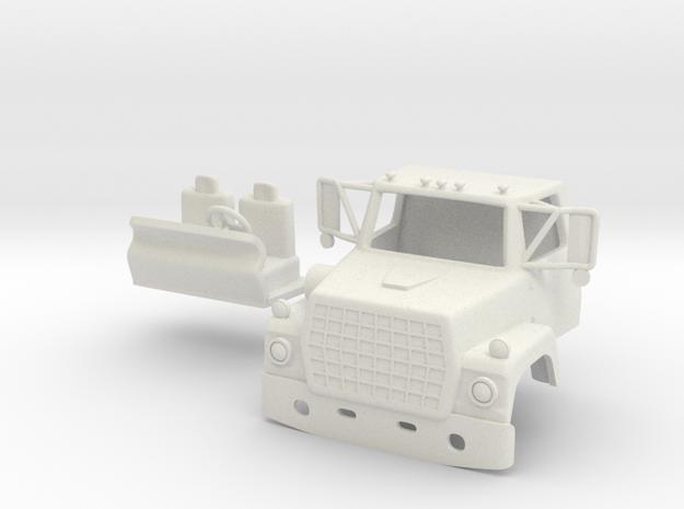 1/64 LN 900 Truck Cab with Interior in White Natural Versatile Plastic