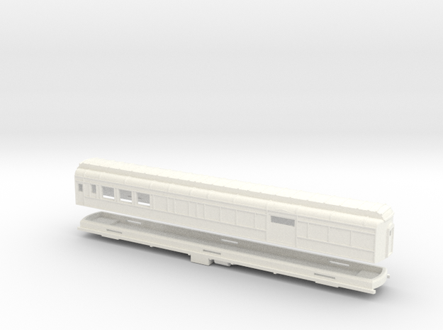 Z Scale Pullman Heavyweight Combine Car in White Processed Versatile Plastic