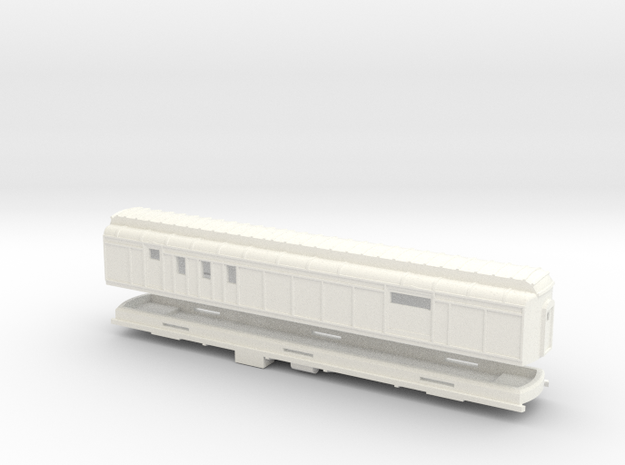 Z Scale Pullman Heavyweight RPO Car in White Processed Versatile Plastic