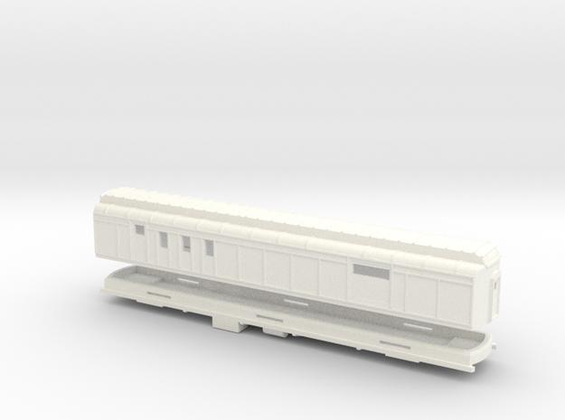 Z Scale Pullman Heavyweight RPO Car in White Processed Versatile Plastic
