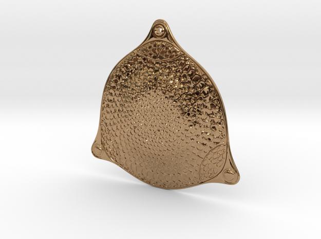Triceratium robertsianum diatom pendant ~ 42mm 3d printed