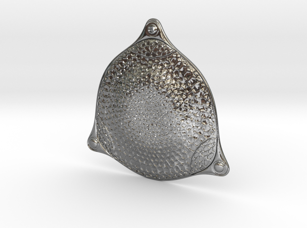 Triceratium robertsianum diatom pendant ~ 42mm tal 3d printed