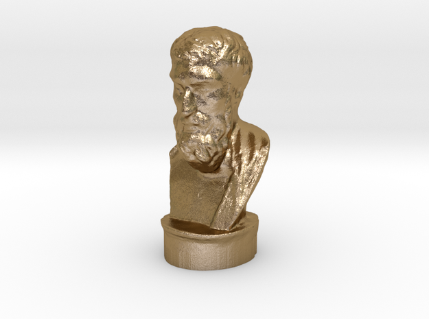 Epicurus 3.2 inches tall and hollow. 3d printed