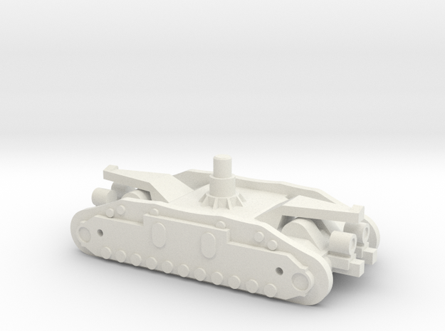 1/144 Crawler Unit without tracks in White Natural Versatile Plastic