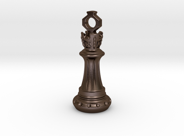 Chess King Pendant 3d printed