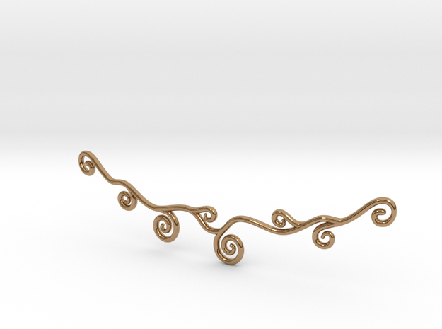 Curly Necklace 3d printed
