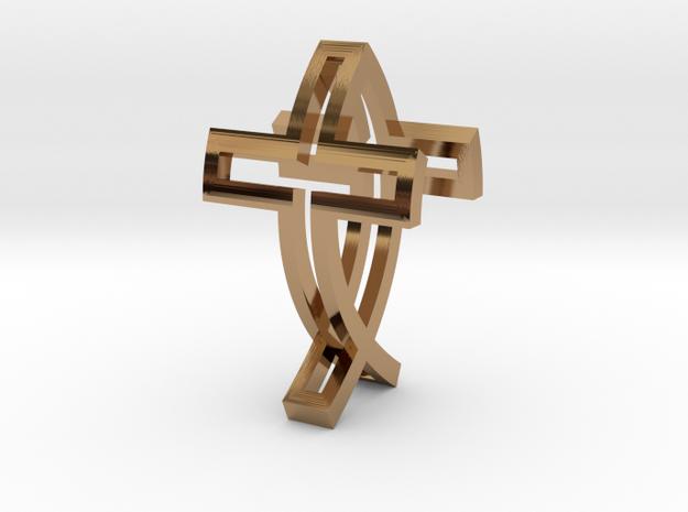 Crossfish Pendant 3d printed