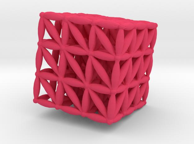 """3-D FLOWER OF LIFE """"META-CUBE"""" 3d printed"""