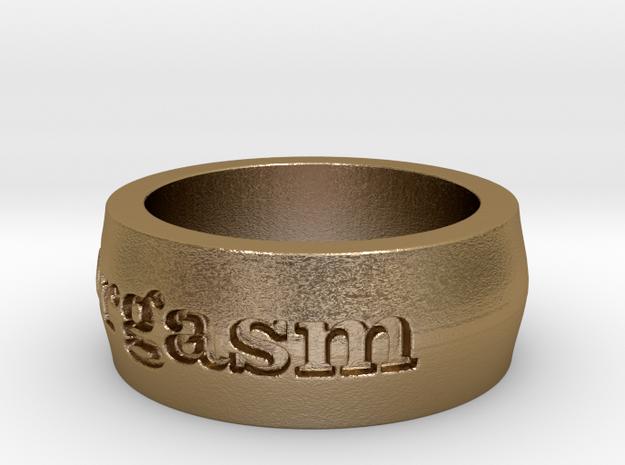 Men's Orgasm Ring Size 7.5 3d printed