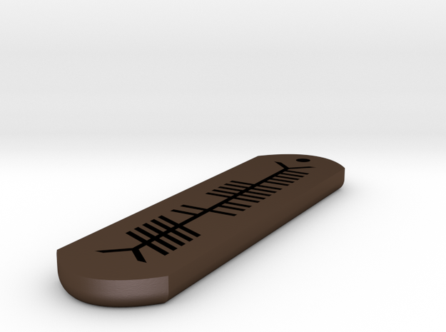 Ogham - Stainless Steel Custom Example 3d printed