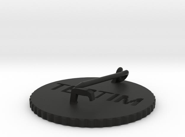by kelecrea, engraved: TESTIM  3d printed