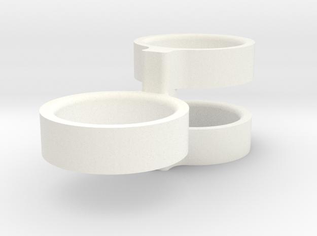 Mortar Clip in White Processed Versatile Plastic