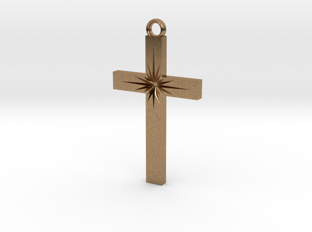 Cross With Starburst  3d printed