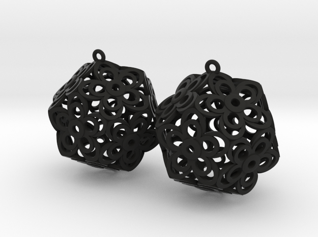 Flower Dodecahedron Earrings