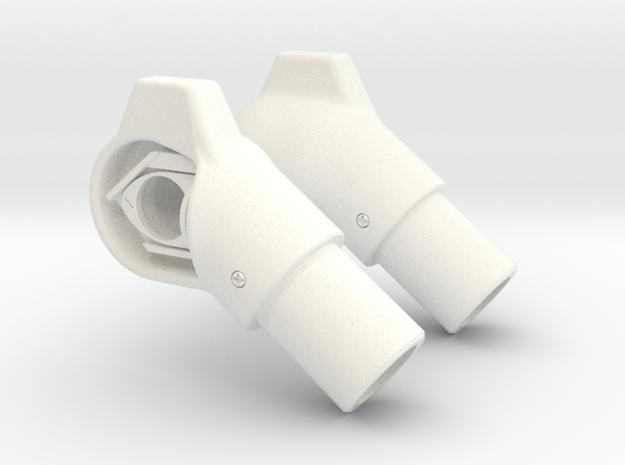 P & S Skid Tip Lights - 10mm in White Processed Versatile Plastic