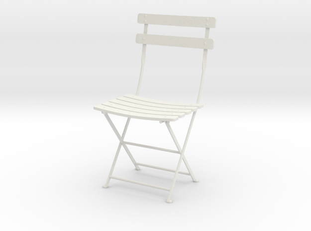 "Bryant Park Bistro Chair 3.7"" tall in White Natural Versatile Plastic"