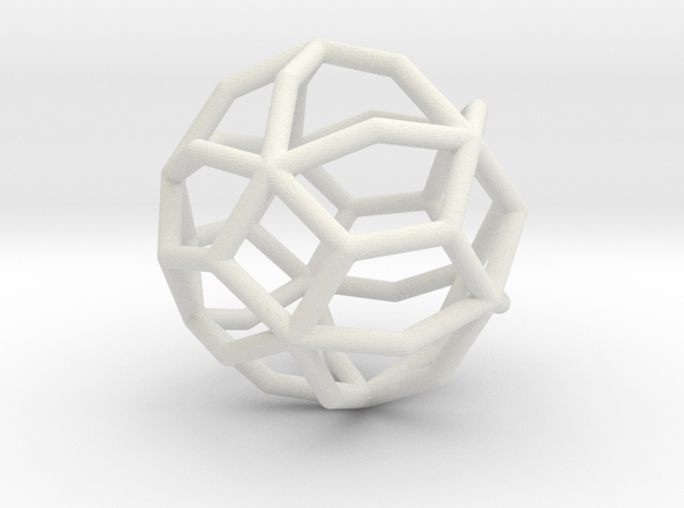 MaxiMin 42 Vertices in White Natural Versatile Plastic