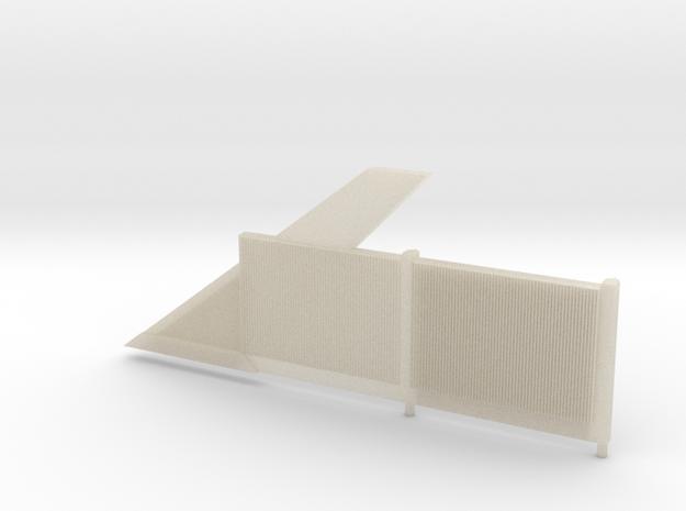 Beton-Schallschutzwand Mit Anfangselement Links-V3 in White Acrylic