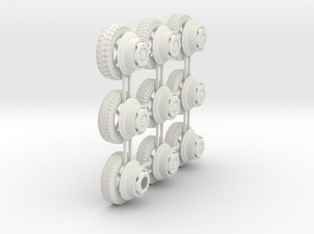 1/48th Puma Wheels 3d printed