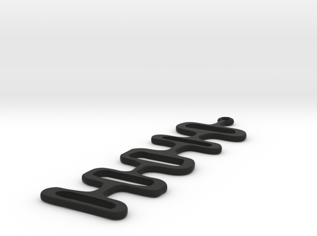 Mod Earrings in Black Natural Versatile Plastic