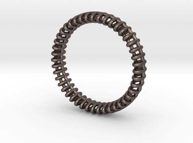 "VORTEX ONE   -   ""18,5mm"" - ""58,5mm"" - ""Q"" - ""8-"" in Polished Bronzed Silver Steel"