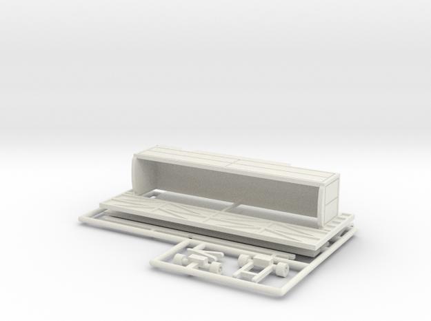 12 m Tonnendachbude 1:160 - (n scale) in White Natural Versatile Plastic