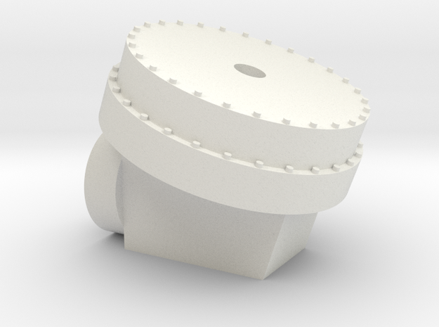 Mars Rover Wheel Adapter in White Natural Versatile Plastic