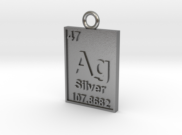 Silver Periodic Table Pendant