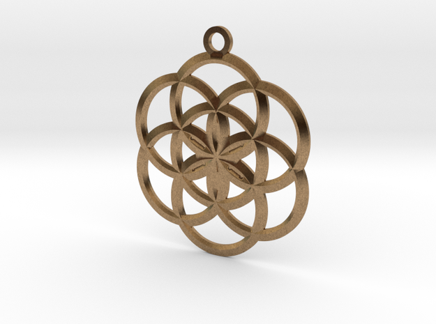 Seed Of Life Pendant - 02 3d printed