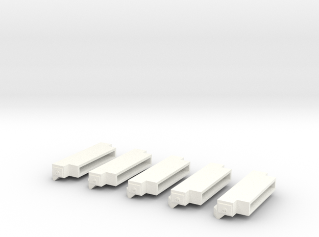 1/64 Bumpers (S Scale) in White Processed Versatile Plastic